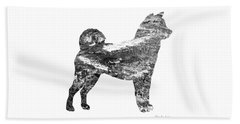 Decorative Husky Abstract O1015j Beach Sheet