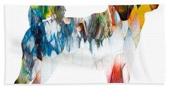 Decorative Husky Abstract O1015l Beach Towel