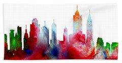 Decorative Skyline Abstract New York P1015c Beach Towel