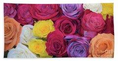 Beach Towel featuring the photograph Decorative Wallart Brilliant Roses Photo B41217 by Mas Art Studio