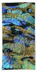 Deep Blue Abstract Art - Deeper Visions 1 - Sharon Cummings Beach Towel