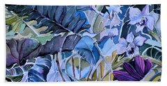Beach Towel featuring the painting Deep Dreams by Mindy Newman