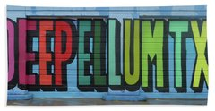 Deep Ellum Wall Art Beach Sheet