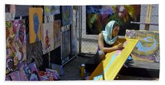 Deep Elum - Artist At Work  Beach Towel