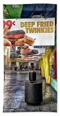 Deep Fried Twinkies Beach Towel by Walt Foegelle