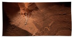 Beach Towel featuring the photograph Deep Inside Antelope Canyon by Jim DeLillo