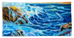 Beach Towel featuring the painting Deep by Jenny Lee
