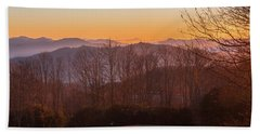Beach Towel featuring the photograph Deep Orange Sunrise by D K Wall