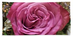 Deep Pink Rose Beach Towel