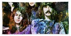 Deep Purple Together Beach Sheet