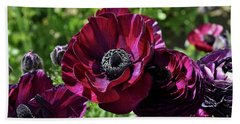 Deep Ranunculus Beach Towel