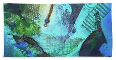 Beach Towel featuring the painting Deep Sea Life by TM Gand