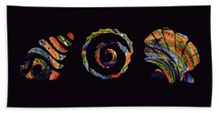 Deep Sea Shell Trio Beach Towel