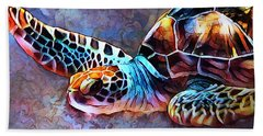 Deep Sea Trutle Beach Towel
