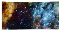 Deep Space Fire And Ice 2 Beach Towel by Jennifer Rondinelli Reilly - Fine Art Photography
