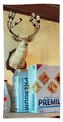 Deer At Salt Lick Beach Towel by Joe Jake Pratt