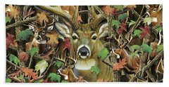 Deer Camo Beach Towel
