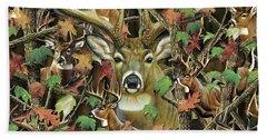 Deer Camo Beach Towel
