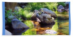 Deer Creek Ferns Beach Towel