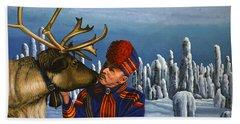 Deer Friends Of Finland Beach Towel