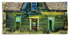 Deer Isle Haunted House Beach Sheet