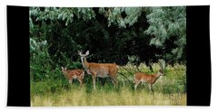 Deer Mom Beach Towel by Larry Campbell