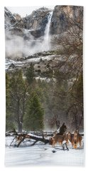 Deer Of Winter Beach Towel