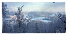Deer Valley Winter View Beach Towel by Meta Gatschenberger