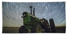 Beach Towel featuring the photograph Deere Trails  by Aaron J Groen
