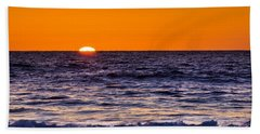 Beach Towel featuring the photograph Del Mar Sunset, View 2 by Randy Bayne