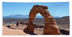 Delicate Arch Arches National Park Beach Towel