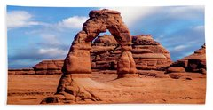 Delicate Arch From Lower Viewpoint Beach Sheet
