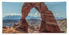 Delicate Arch In Early Morning Beach Towel