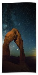 Delicate Arch Moonset Beach Sheet