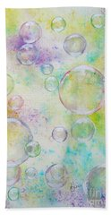 Delicate Bubbles Beach Towel