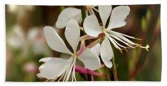 Delicate Gaura Flowers Beach Sheet