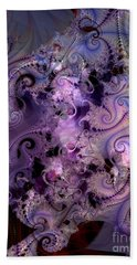 Delicate Lavender Forms Beach Towel