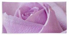 Delicate Lavender Rose Macro Beach Sheet