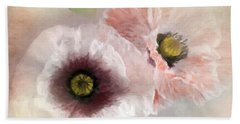 Delicate Pastel Poppies Beach Towel