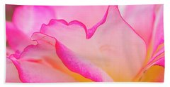 Delicate Pink And White Rose Beach Towel by Teri Virbickis