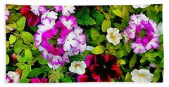 Delicious Floral Foray Beach Towel