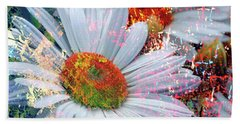 Beach Towel featuring the photograph Delightful Daisies by Annie Zeno