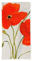 Delightful Poppies Beach Sheet