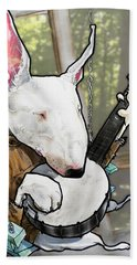 Deliverance Bull Terrier Caricature Art Print Beach Towel