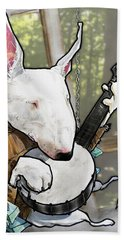 Deliverance Bull Terrier Caricature Art Print Beach Towel