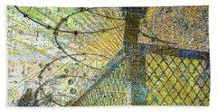 Beach Towel featuring the mixed media Deliverance by Tony Rubino