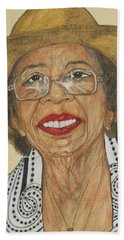 Della Willis Portrait Beach Towel