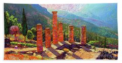 Delphi Magic Beach Towel by Jane Small