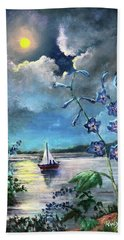 Delphinium Dreams Beach Towel