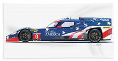 Deltawing Le Mans Racer Illustration Beach Sheet